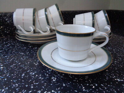 Boots Hanover Green Espresso Cups And Saucers X 6 • 24£