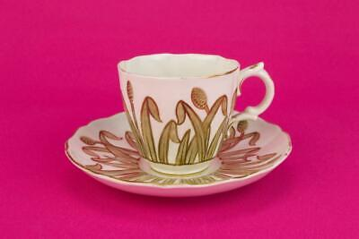1880 Coffee Cup Saucer Tea Set Aesthetic Movement Gold Antique Victorian English • 39.67£