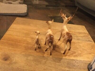 Beswick Stag Model 981, Fann Model 1000a Doe Model 999a Gloss Perfect Condition • 100£