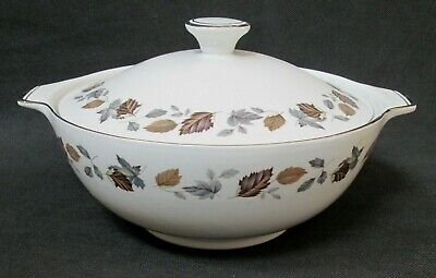 Vintage Alfred Meakin Glo-White Covered Serving Dish Tureen Autumn Leaves • 12.99£