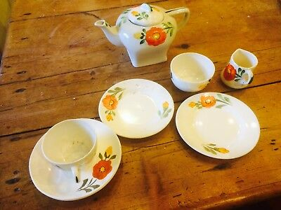 HANCOCK'S IVORY WARE CHILD'S 'ART DECO'  Tea Service   • 19.99£