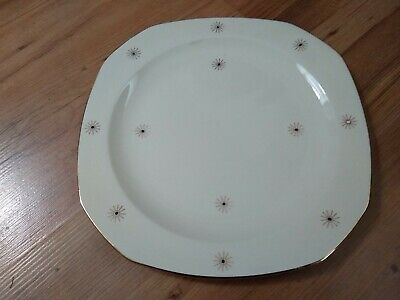 Vintage 1950s Alfred Meakin Dinner Plate Ivory Gold Midnight Star VGC • 11.99£