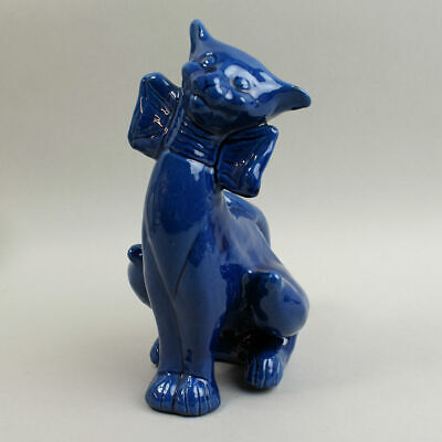 Sytlish C.h. Brannam Art Pottery Cat Figure C.1890 - 1910 • 175£