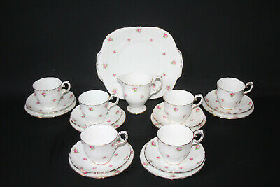 Crown Staffordshire - Rosebud - Tea Service For 6 - VGC • 39.99£
