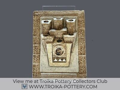 Troika Pottery Posy Plaque Listed On The Troika Collectors Club • 395£