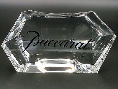 BACCARAT Crystal Paperweight Trade Display / Advertising Sign - Rare Collectible • 150£