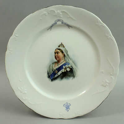 Royal Doulton Queen Victoria 1897 Diamond Jubilee Porcelain Plate • 30£