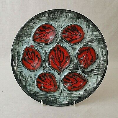 French Faience Oyster Plate MBFA Pornic Mid Century Vintage Hand Painted • 18£
