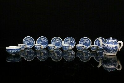 Antique Chinese Blue And White Miniature Tea Service Circa 1900 • 85£