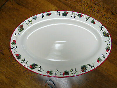 Laura Ashley Large Oval Platter - Fir Cones / Christmas • 26.96£