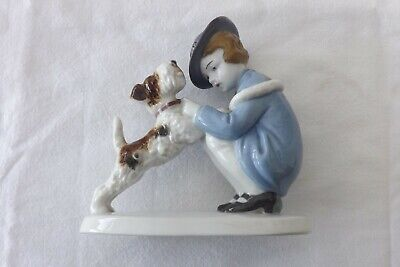 Goebel Fine Porcelain Study Of A Girl With Her Dog Marked To Base 12cms High • 79.99£