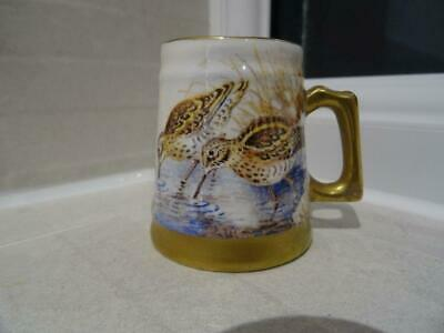 Ex-Royal Worcester Artist D.Wilson - Miniature Snipe Tankard For Dunheved China • 25£