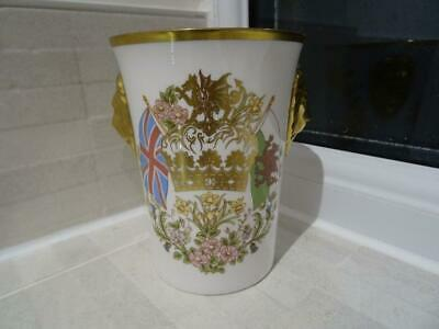 Caverswall Birth Of Prince William 1982 Lion Head Beaker • 7.95£
