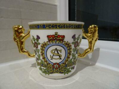 Paragon Loving Cup 1986 Marriage Of Andrew & Sarah - Gilded Lion Handles • 6.50£