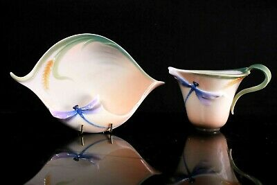 Franz China Fine Porcelain Dragonfly Cup And Saucer • 85£