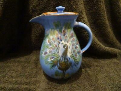 Vintage Lemon & Crute Peacock Decorated Water Pot • 16.95£