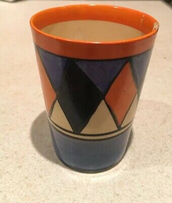 Clarice Cliff Early Geometric Beaker • 75£