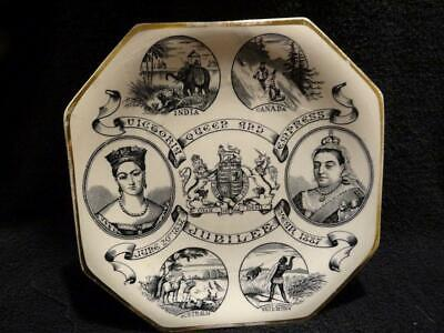 Queen Victoria Golden Jubilee Plate 1887 -  Victoria Queen And Empress  • 27.95£