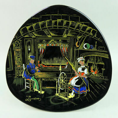 French Lorraine Hand Enamelled Pottery Plate  • 32£