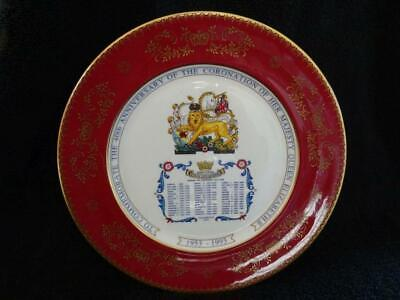 Aynsley Elizabeth II 40th Anniversary Of The Coronation Plate 1993 • 9.95£