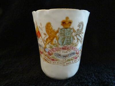 Fine China Beaker For The 1902 Coronation - Edward VII • 9.95£