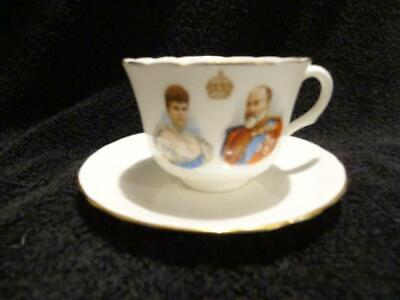 Lovely Royal Doulton Cup & Saucer Duo For The 1902 Coronation - Edward VII • 19.95£