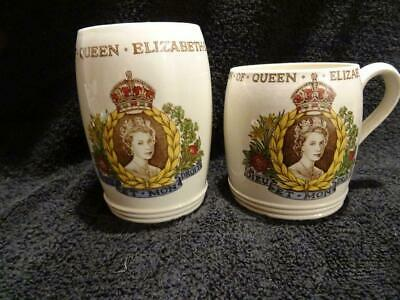 Copeland Spode Mug & Beaker For The 1953 Coronation - Elizabeth II • 9.95£