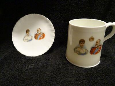 Royal Doulton Mug + Similar Pin Tray For The 1902 Coronation - Edward VII • 9.95£