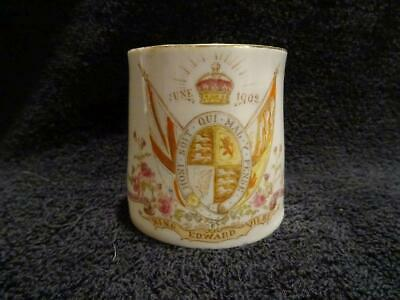 China Mug For The 1902 Coronation Of Edward VII • 7.95£