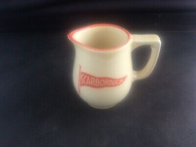 Antique Miniature Scarborough Pottery Jug Flag Ensign Ocean Liner / Hotel Ware • 17.99£