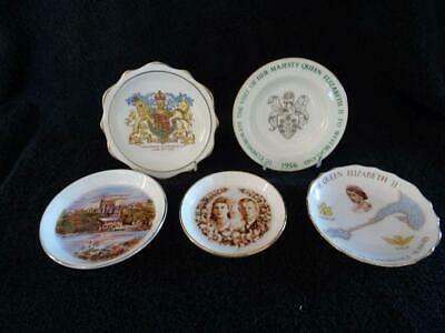 5 Various Royal Commemorative Pin Dishes • 12.95£