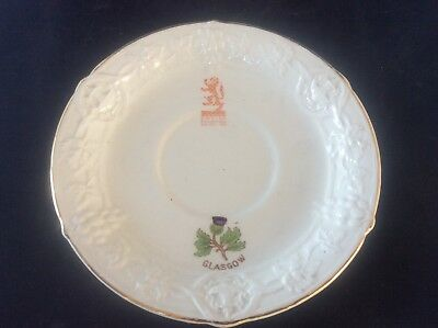 Glasgow Scottish 1938 Empire Exhibition WH GOSS Saucer For Cup Thistle Design 9 • 8.99£