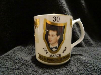 Rare Chown China Ltd Ed. Of 100 Mug - 30th Birthday Of Prince Edward • 14.95£