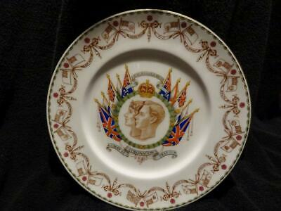 Stunning Cauldon China George VI Coronation Plate Enamelled Decoration • 34.95£