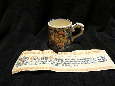 Laura Knight For Burleigh Ware George VI Coronation Cup With Certificate • 24.95£