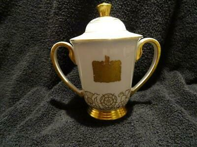 John Wadsworth For Minton - Elizabeth II Coronation Chocolate Cup & Cover • 149.95£