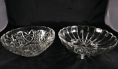Two Lovely Vintage Crystal Glass Bowls  • 10£
