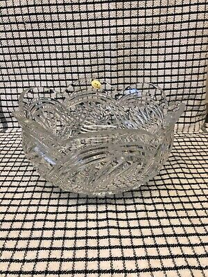 Irish Tyrone Crystal Bowl  Width 81/2 InsHeight 5ins In Nice Condition • 18£
