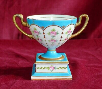 Antique Victorian Minton Twin Handled Hand Painted Urn Porcelain Vase A/F • 25£