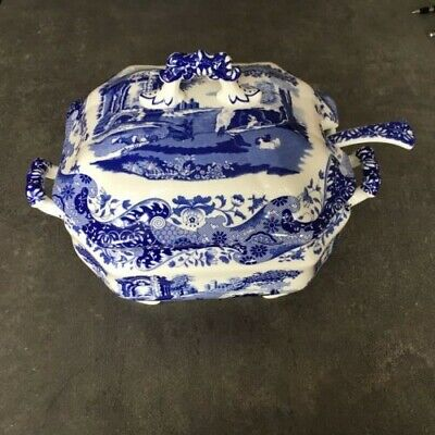 Spode - Blue Italian - Large Soup Tureen - With Ladle • 95£