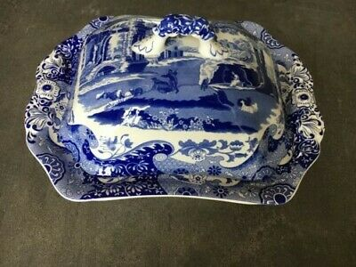 Spode Blue Italian 12  Covered Vegetable / Serving Dish  • 50£