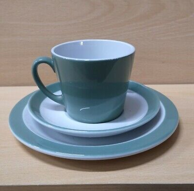 Woods Ware Beryl Green NHS Tea Cups And Plates • 2.50£