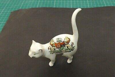 Hanley Crested China Cat City Of Bristol 10cms High • 39.99£