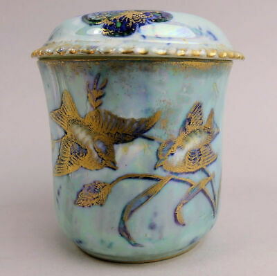 Antique Aynsley Butterfly Lustre Design Porcelain Hair Tidy C.1910 • 34£