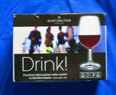 Six Dartington Drink! Red Wine Glasses 45 Cl • 19.50£