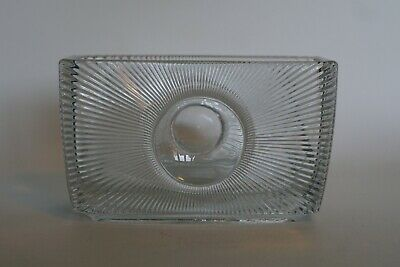 Unusual Vintage Cut Crystal Optic Planter Or Container - Mid Century ? • 9.95£