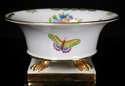 Herend Queen Victoria Claw Footed Porcelain Cachepot 6492 VBO • 225£