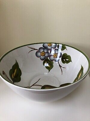 E Radford Art Pottery Very Large Salad Bowl Hand Painted - Pears - VERY RARE • 20£