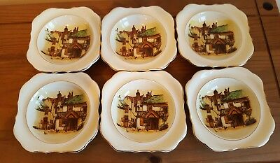 Vintage Lancaster & Sons  Four Ways Inn  Set Of 6 Dishes Collectable • 6£