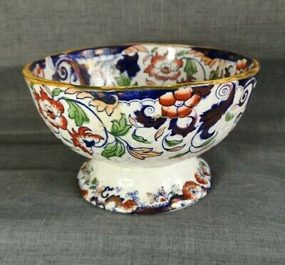 Early Victorian Whitehaven Ironstone Bowl • 85£